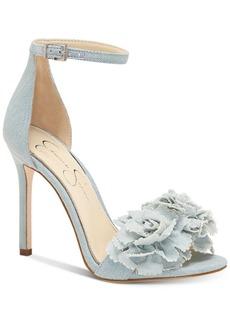 Jessica Simpson Jeena Flower Pom-Pom Sandals Women's Shoes