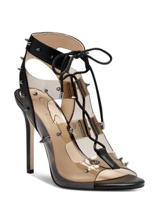 Jessica Simpson Jirven Spike Clear Strap Cage Sandal (Women)