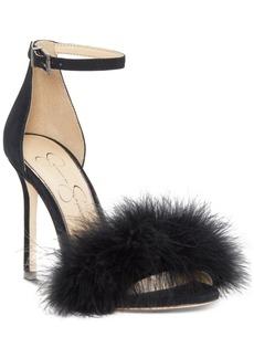 Jessica Simpson Jolinda Furry Dress Sandals Women's Shoes