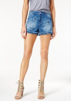 Jessica Simpson Journey Festival Cotton Frayed Denim Shorts