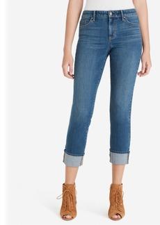 Jessica Simpson Juniors' Arrow Straight Wide-Cuff Jeans