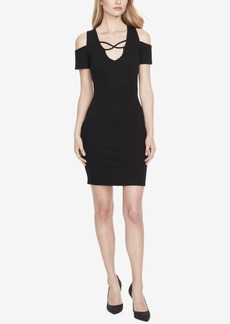 Jessica Simpson Juniors' Cold-Shoulder Bodycon Dress
