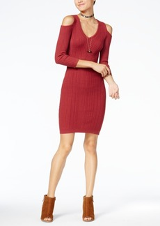 Jessica Simpson Juniors' Cold-Shoulder Sweater Dress