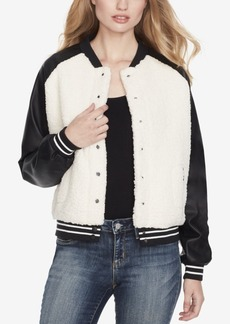 Jessica Simpson Juniors' Faux-Shearling Bomber Jacket