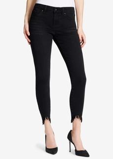 Jessica Simpson Juniors' Fringe-Cuff Skinny Jeans