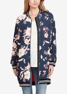 Jessica Simpson Juniors' Nora Long Bomber Jacket