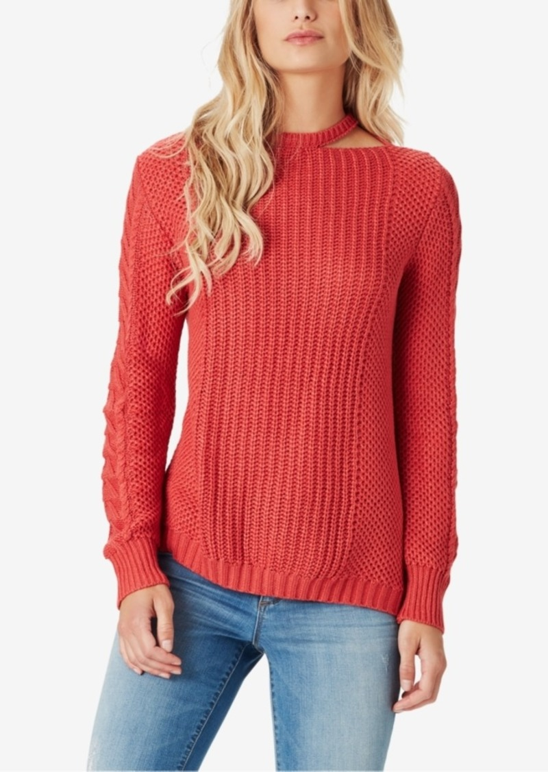 Jessica Simpson Jessica Simpson Juniors Oasis Cutout Cable Knit