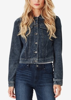 Jessica Simpson Juniors' Peony Cotton Ruffle Denim Jacket