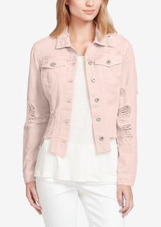 Jessica Simpson Juniors' Pixie Cotton Denim Jacket