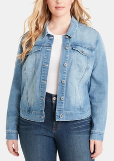 Jessica Simpson Trendy Plus Size Cotton Denim Jacket