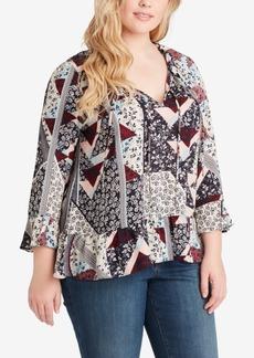 Jessica Simpson Trendy Plus Size Ruffled Top