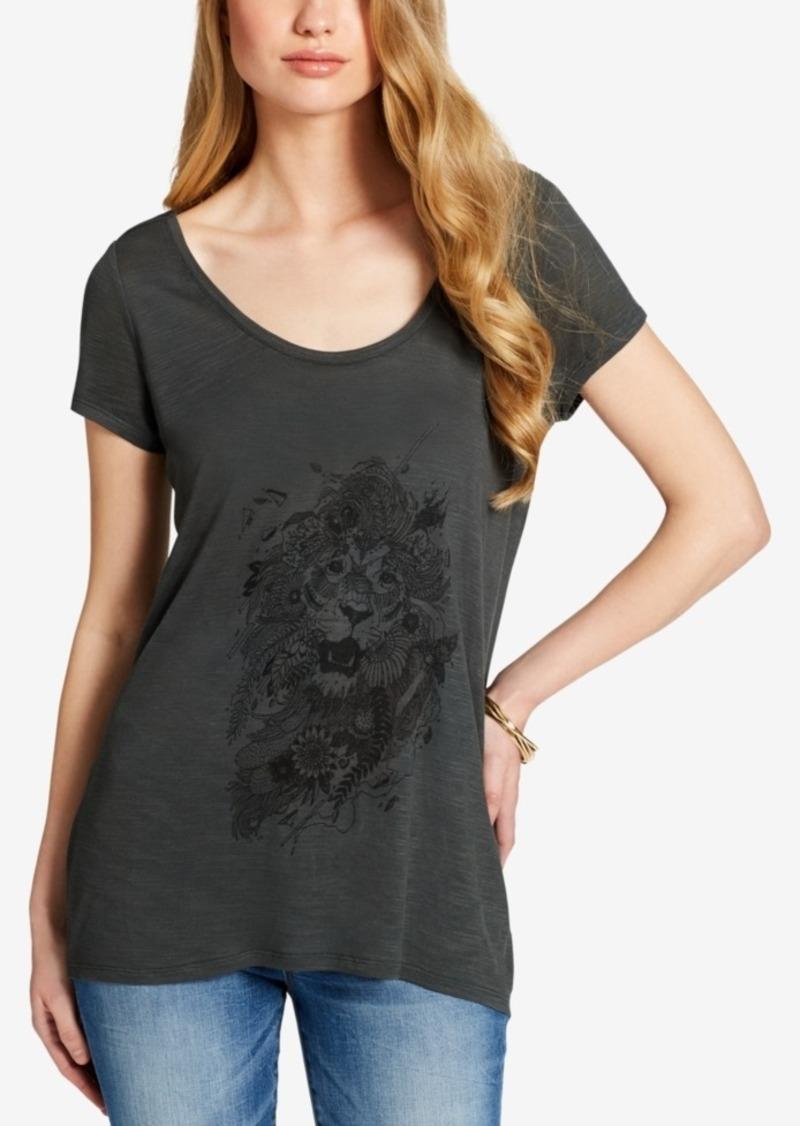 98c0cbe392 Jessica Simpson Jessica Simpson Juniors  Printed Twist-Back T-Shirt ...