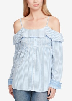 Jessica Simpson Juniors' Smocked Off-The-Shoulder Blouse
