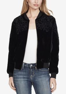 Jessica Simpson Juniors' Velvet Bomber Jacket