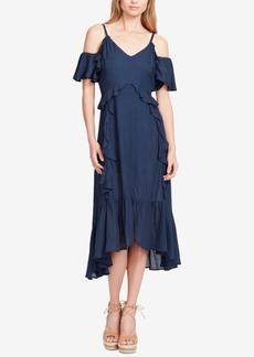 Jessica Simpson Juniors' Yasmin Cold-Shoulder Midi Dress