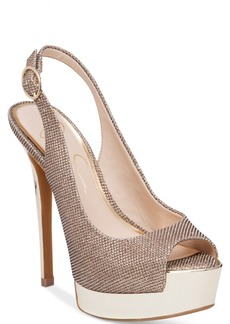 Jessica Simpson Kabale Peep-Toe Slingback Platform Pumps Women's Shoes
