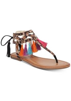 Jessica Simpson Kamel Embellished Flat Thong Sandals Women's Shoes