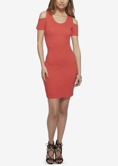 Jessica Simpson Kara Textured Cold-Shoulder Bodycon Dress