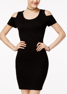Jessica Simpson Kara Textured Cold-Shoulder Bodycon Dress