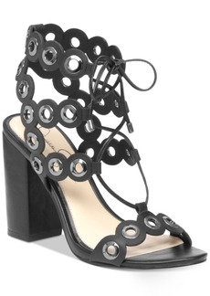 Jessica Simpson Kariss Strappy Embellished Block-Heel Sandals Women's Shoes