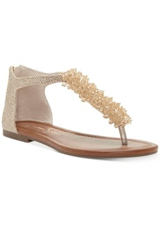 Jessica Simpson Kenton Pearl-Embellished Flat Sandals Women's Shoes
