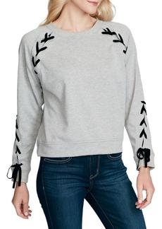 Jessica Simpson Kiana Lace-Up Sweatshirt