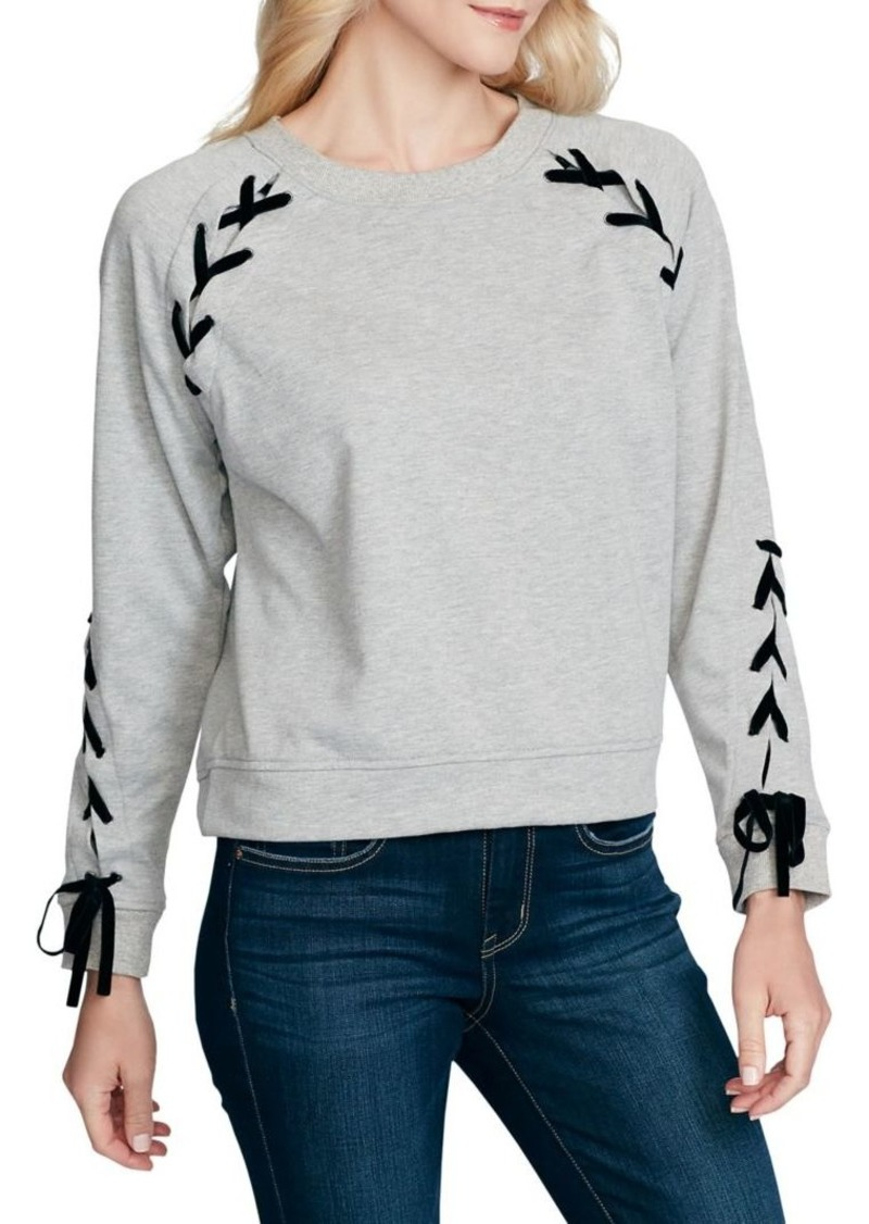 Jessica Simpson Kiana Lace-Up Sweatshirt