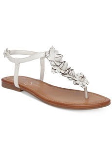 Jessica Simpson Kiandra Detailed Thong Flat Sandals Women's Shoes