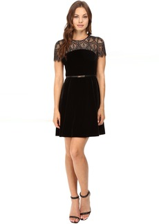 Jessica Simpson Lace and Velvet Combo Dress