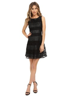Jessica Simpson Lace Color Block Scuba Dress