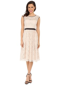 Jessica Simpson Lace Dress with Satin Contrast