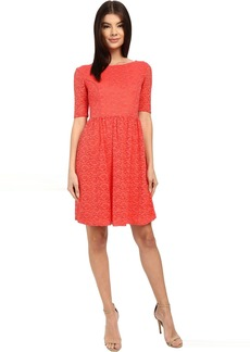 Lace Fit and Flair Dress