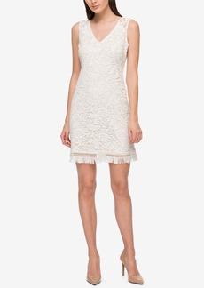 Jessica Simpson Lace Fringe A-Line Dress