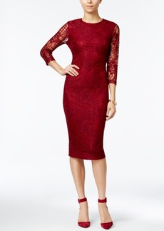 Jessica Simpson Lace Midi Sheath Dress
