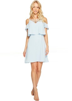 Jessica Simpson Lace-Up Cold Shoulder Dress