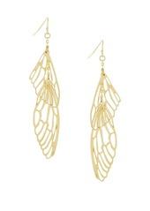 Jessica Simpson Linear Double Wing Drop Earrings