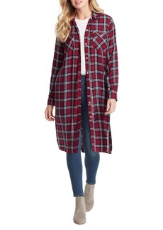 Jessica Simpson Loria Button-Up Duster Shirt