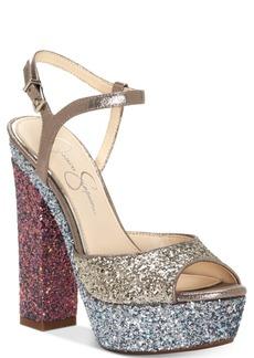 Jessica Simpson Lorinna Platform Glitter Sandals Women's Shoes