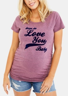 Jessica Simpson Love To Love You Baby Maternity Graphic Tee