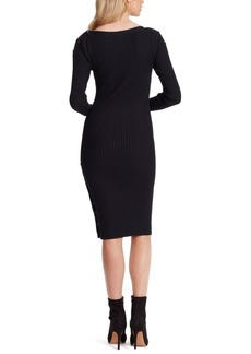 Jessica Simpson Madeleine Ribbed Midi Sweater Dress
