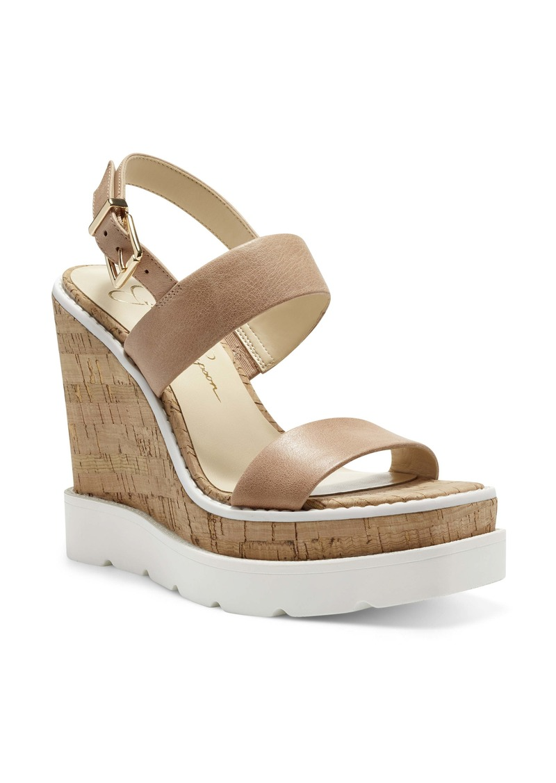 Jessica Simpson Maede Cork Wedge Sandal (Women)
