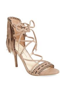 Jessica Simpson 'Mareya' Fringe Ankle Tie Sandal (Women)