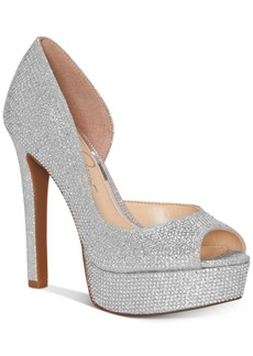 Jessica Simpson Martella d'Orsay Peep-Toe Platform Pumps Women's Shoes