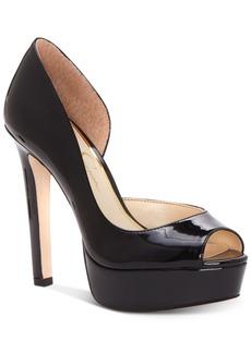 Jessica Simpson Martella Peep-Toe Platform Pumps Women's Shoes
