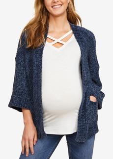 Jessica Simpson Maternity Chenille Open-Front Cardigan