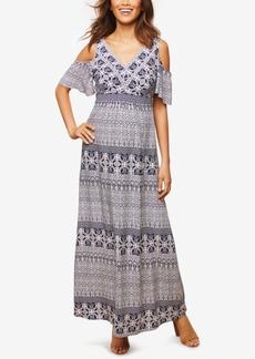 Jessica Simpson Maternity Cold-Shoulder Maxi Dress