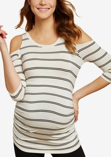 Jessica Simpson Maternity Cold-Shoulder T-Shirt