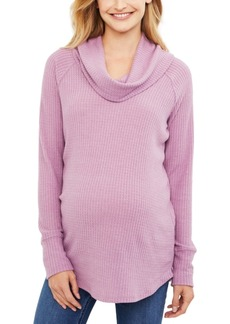 Jessica Simpson Maternity Cowl-Neck Top