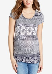 Jessica Simpson Maternity Crisscross-Back T-Shirt