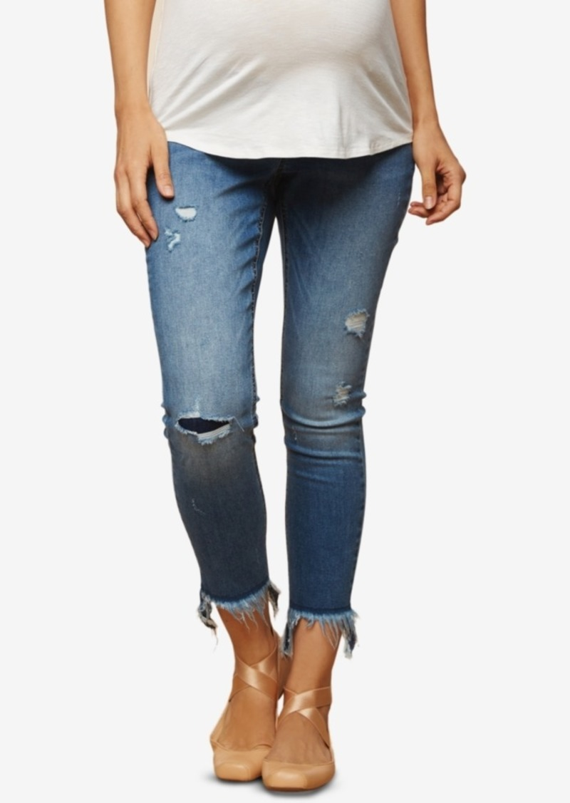 44419bfcc0aa9 Jessica Simpson Jessica Simpson Maternity Cropped Skinny Jeans Now ...